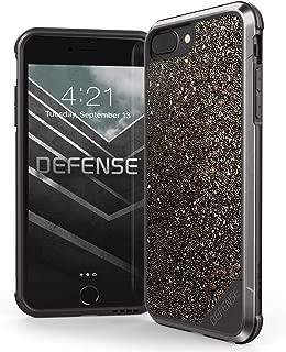iPhone 8 Plus, iPhone 7 Plus, iPhone 6 Plus Case, X-Doria Defense Lux - Military Grade Drop Tested Case for Apple iPhone 8 Plus, iPhone 7 Plus & iPhone 6 Plus (Dark Glitter)