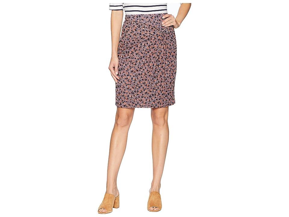 1.STATE Ditsy Drift Ruched Mini Skirt w/ Knot (Iris Shade) Women