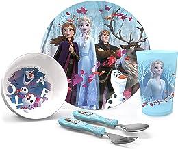 Zak Designs Disney Cover case Rosa, Frozen - Juego de 2 cuencos de cocina, Juego de 5 piezas, 1