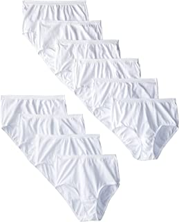 Fruit of the Loom Women's 6 Pack Comfort Covered Cotton Brief Panties-White