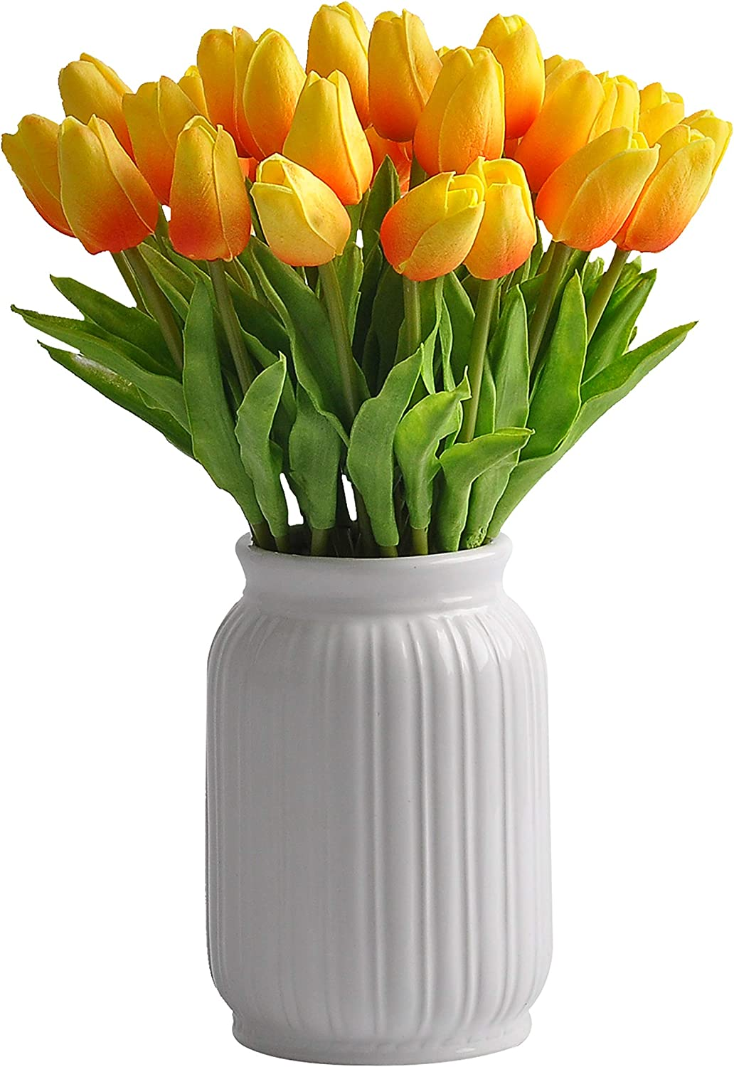 cn-Knight 30pcs Artificial Tulip Max 68% OFF Real Albuquerque Mall Flower for Wedding Touch H