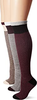 Muk Luks Women's 18'' Color Block Marl Knee High Socks
