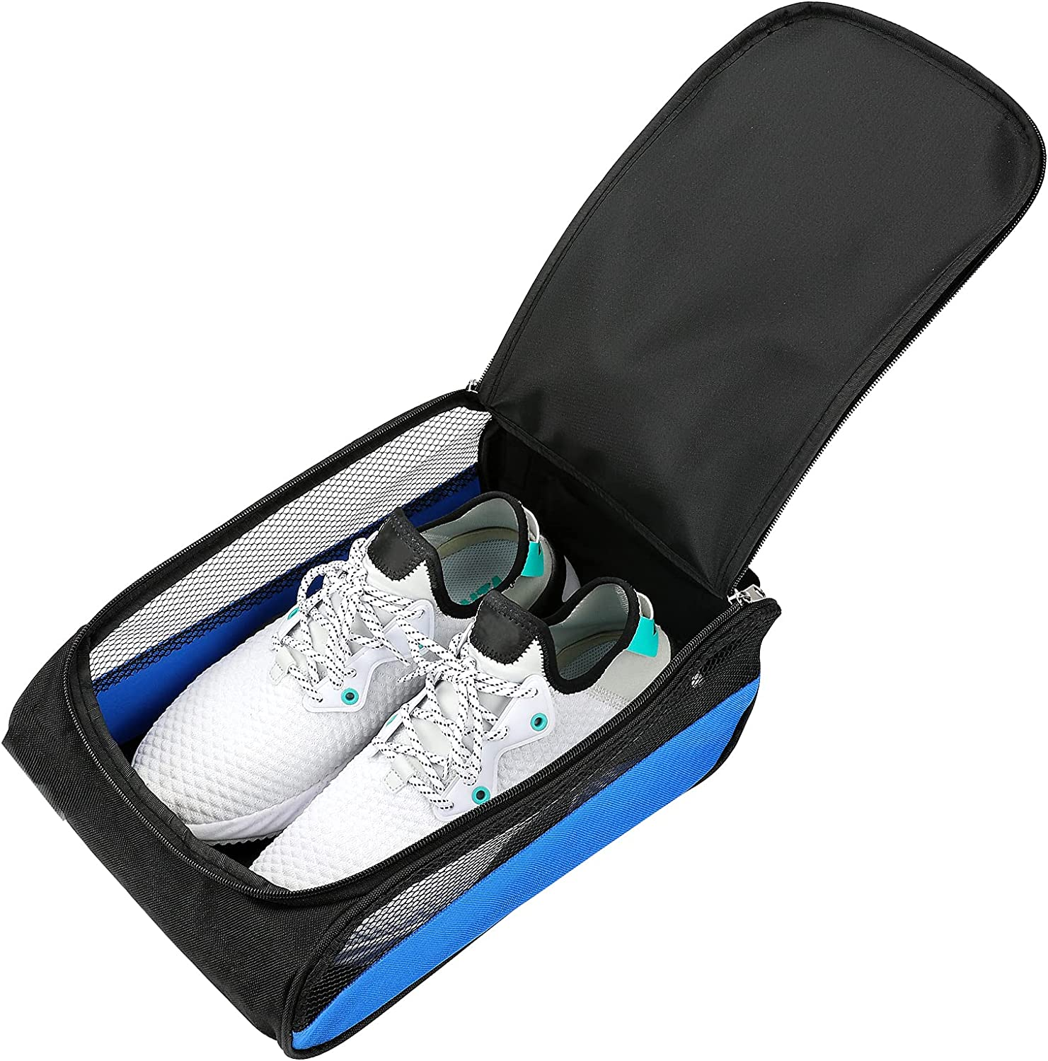 LINGSFIRE Golf Shoe Bag Deluxe Breatha Shoes Zippered Max 77% OFF Storage