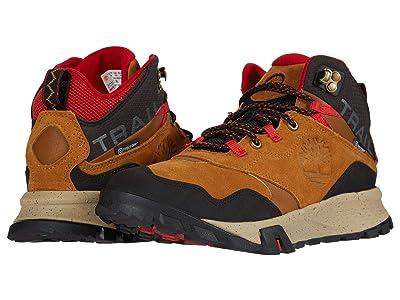 Timberland Garrison Trail Waterproof Mid Hiker (Medium Brown Suede) Men