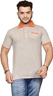 Ytrick Men's Grey Polo T-Shirt