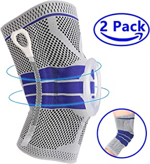 Premium Knee Brace Compression Sleeves - Professional Knee Pads Support for Meniscus Tear, Arthritis, Joint Pain Relief, Running, Crossfit, Workout, Basketball, Volleyball, Men & Women M