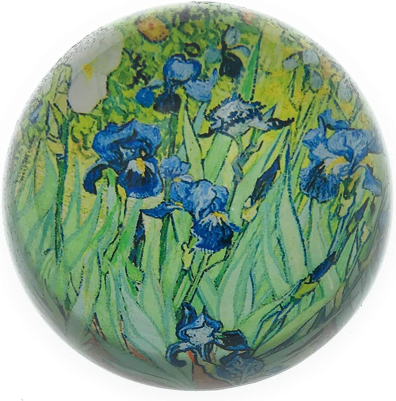 Value Arts Vincent Van Gogh Irises Dome free Inc Glass 3 Paperweight service