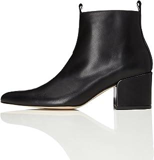 bc1a2264ecd51 Amazon.fr   chaussures talon carre noir - Bottes et bottines ...