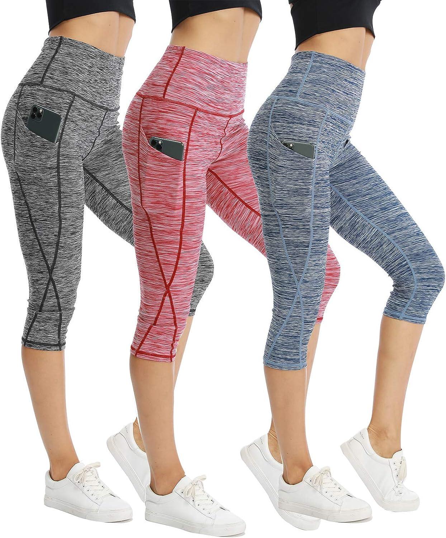 CongYee Sport Women's Yoga Capris for Control W free sale Pants Tummy