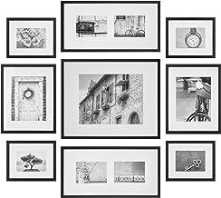 معرض الصور الخشبية الممتاز، مجموعة أدوات الحائط للمعرض مع مطبوعات فنية زخرفية وقالب معلق 9 Piece Set 14FW1019