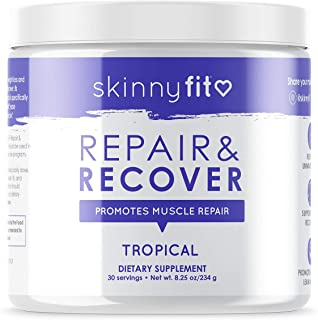 SkinnyFit Repair & Recover 30 Servings: BCAA Powder for Women, Branched Chain Amino Acids, Pre Intra Post Workout Supplement for Endurance, Muscle Recovery Boost Growth, Tropical Flavor