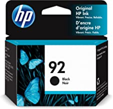 Original HP 92 Black Ink Cartridge | Works with HP DeskJet 5440; HP OfficeJet 6310; HP PhotoSmart C3100, 7850; HP PSC 1500...