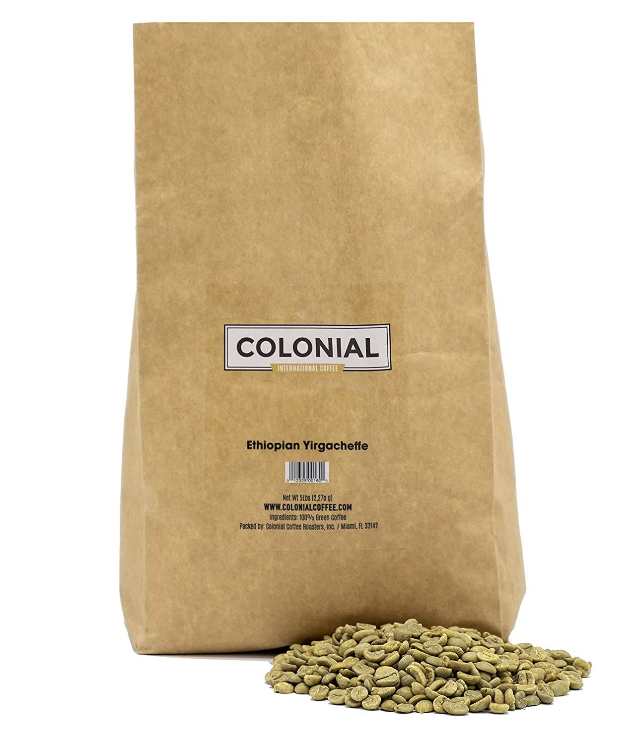 Colonial Coffee Unroasted Green lowest price ETHIOPIAN YIRG Tucson Mall Raw Beans