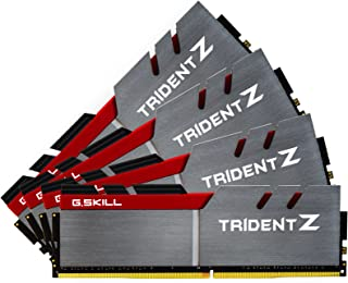 G.SKILL TridentZ Series F4-3200C14Q-64GTZ 64 GB (16 GB x 4) DDR4 3200 MHz CL14 1.35V Memory Kit - Multi Colour