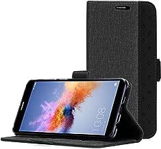 Huawei Mate SE Case, Honor 7X Wallet Case, ProCase Folio Folding Wallet Case Flip Cover Protective Case for Huawei Honor 7X Huawei Mate SE, with Card Holders Kickstand -Black
