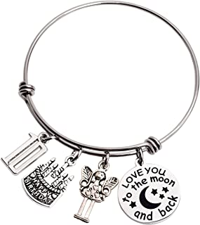 LParkin 10th Birthday Gifts for Girls Gifts for Her Stainless Steel Expandable Bangle