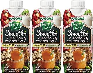 カゴメ 野菜生活100 Smoothie アーモンドミルク&いちごマキベリーMix 330ml×3本