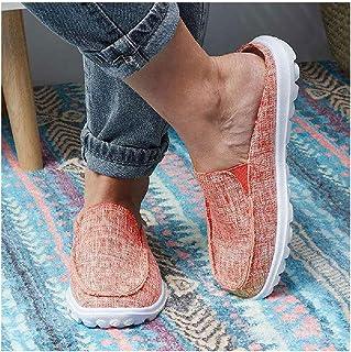 SHENGYAO Mocassins Escarpins décontractés Chaussures de Travail Chaussures de Conduite Plates Chaussures de Bateau Confort...