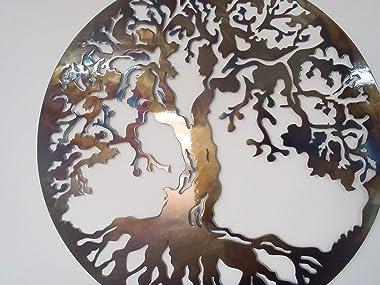 Albero della vita, il calore, in metallo, 69,8 cm