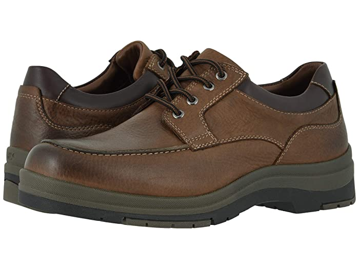 Johnston and Murphy  Cahill Moc Lace-Up (Brown Oiled Waterproof Tumbled Full Grain) Mens Shoes