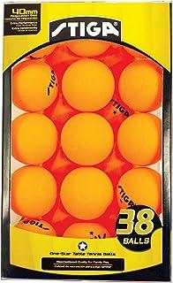 STIGA - Pelotas de Tenis de Mesa de 1 Estrella (38 Unidades)