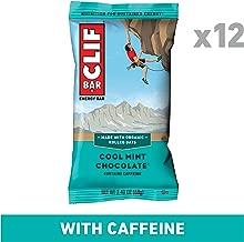 CLIF BAR - Energy Bars - Cool Mint Chocolate with Caffeine, 2.4 Ounce (12 Count)