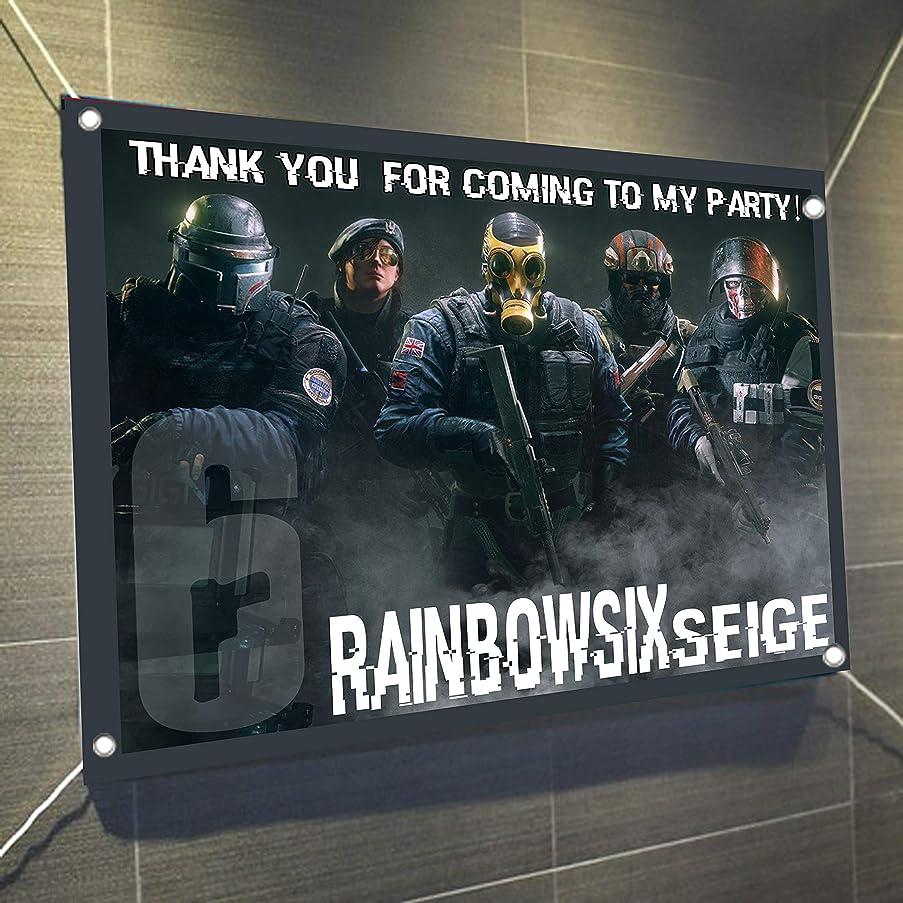 Rainbow Six (6) Siege Large Vinyl Indoor or Outdoor Banner Sign Poster Backdrop Decoration, Waterproof, 30