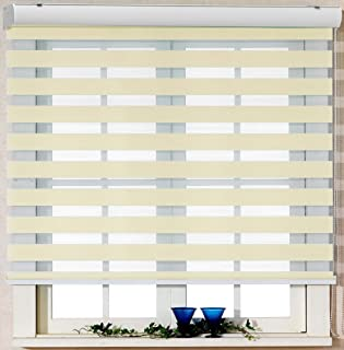 47W x 64L Inches White DEZ Furnishings QDWT470640 Cordless Light Filtering Pleated Shade