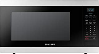 Samsung MS19M8000AS/AA Large Capacity Countertop Microwave Oven with Sensor and Ceramic Enamel Interior, Stainless Steel