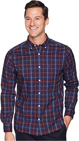 Long Sleeve Wear to Work Plaid