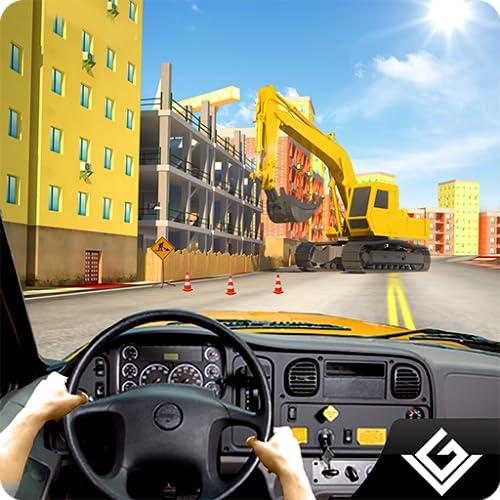 City Bus Construction Simulator Spiel Kostenlos für Kinder: Transport Mega City Baggerkran Arbeiter im Home Builder Adventure