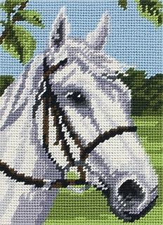 Anchor Gobelin-Set: Starter: Weißes Pferd, Mehrfarbig, 14 x 18cm
