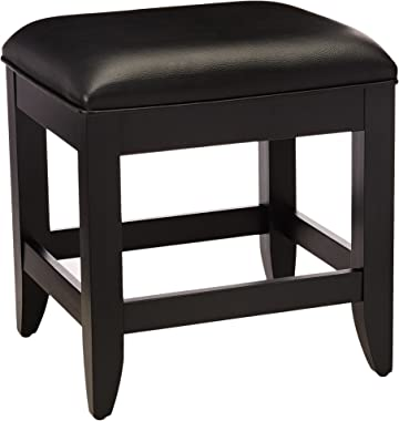 Bedford Black Vanity Bench by Home Styles