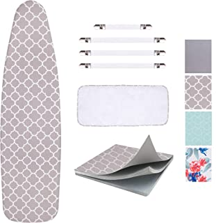 SUNKLOOF Scorch Resistance Ironing Board Cover and Pad Resists Scorching and Staining Ironing Board Cover with Elasticized Edges and Pad 15