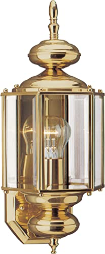 2021 Sea Gull Lighting 8510-02 Classico Outdoor lowest Wall Lantern Outside Fixture, 25.5'' Height, 2021 Polished Brass online sale