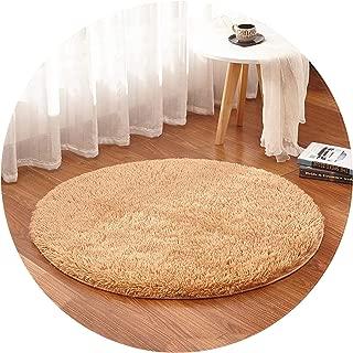 Show-Show-Fashion Shop&Grass Green Round Rug Carpets Room Rugs Soft and Fluffy Warm, Size, Diameter 60,80,100,160cm,Khaki,Diameter 140 cm