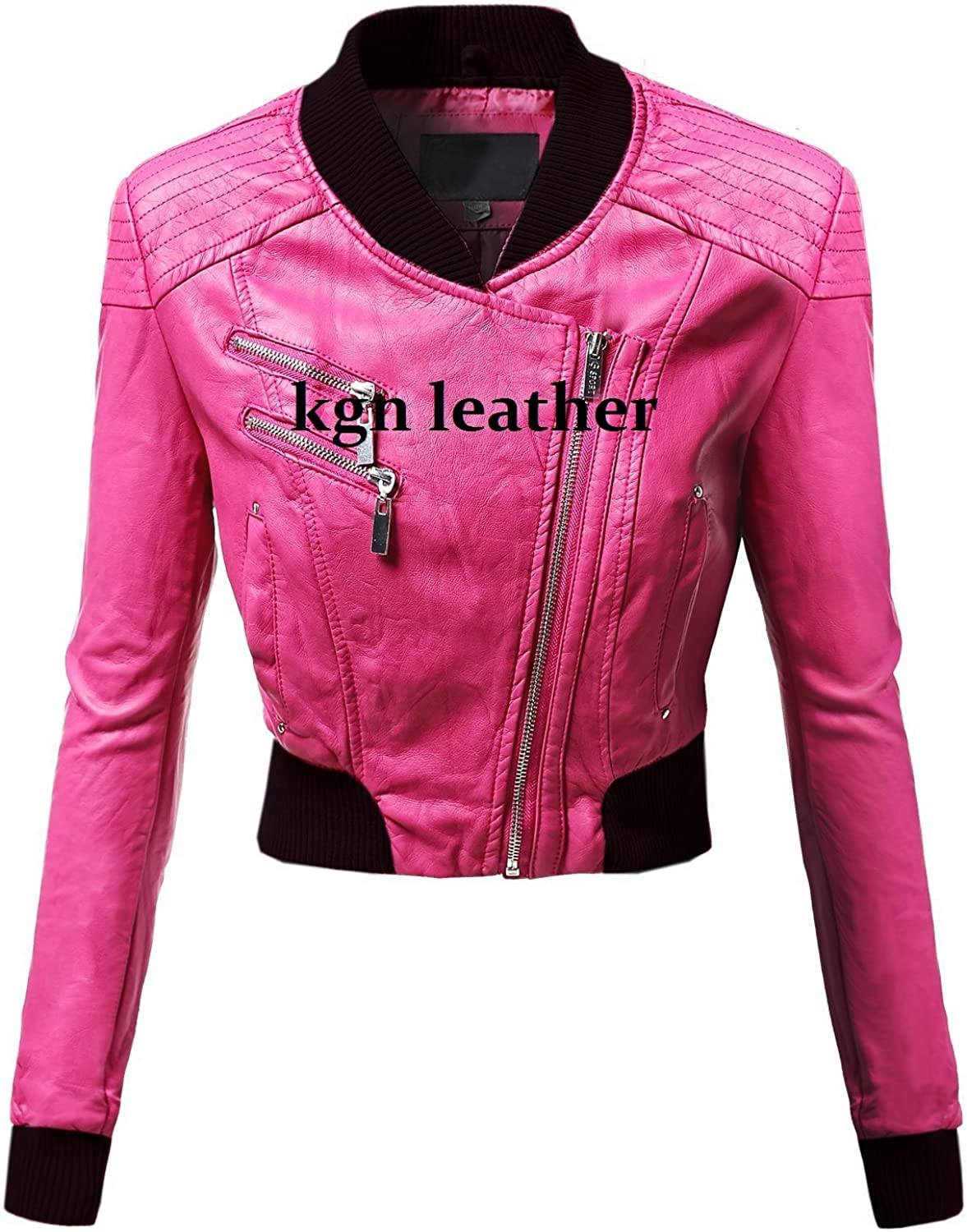 GENUINE SOFT INDIAN LAMBSKIN WOMENS LEATHER JACKET 11