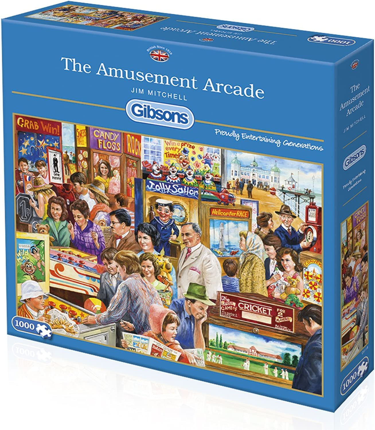 The Amusement Arcade by Jim Mitchell 1000 piece jigsaw puzzle