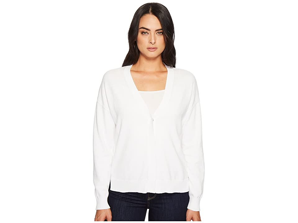 Michael Stars Cotton Knits Reversible Cardigan (White) Women