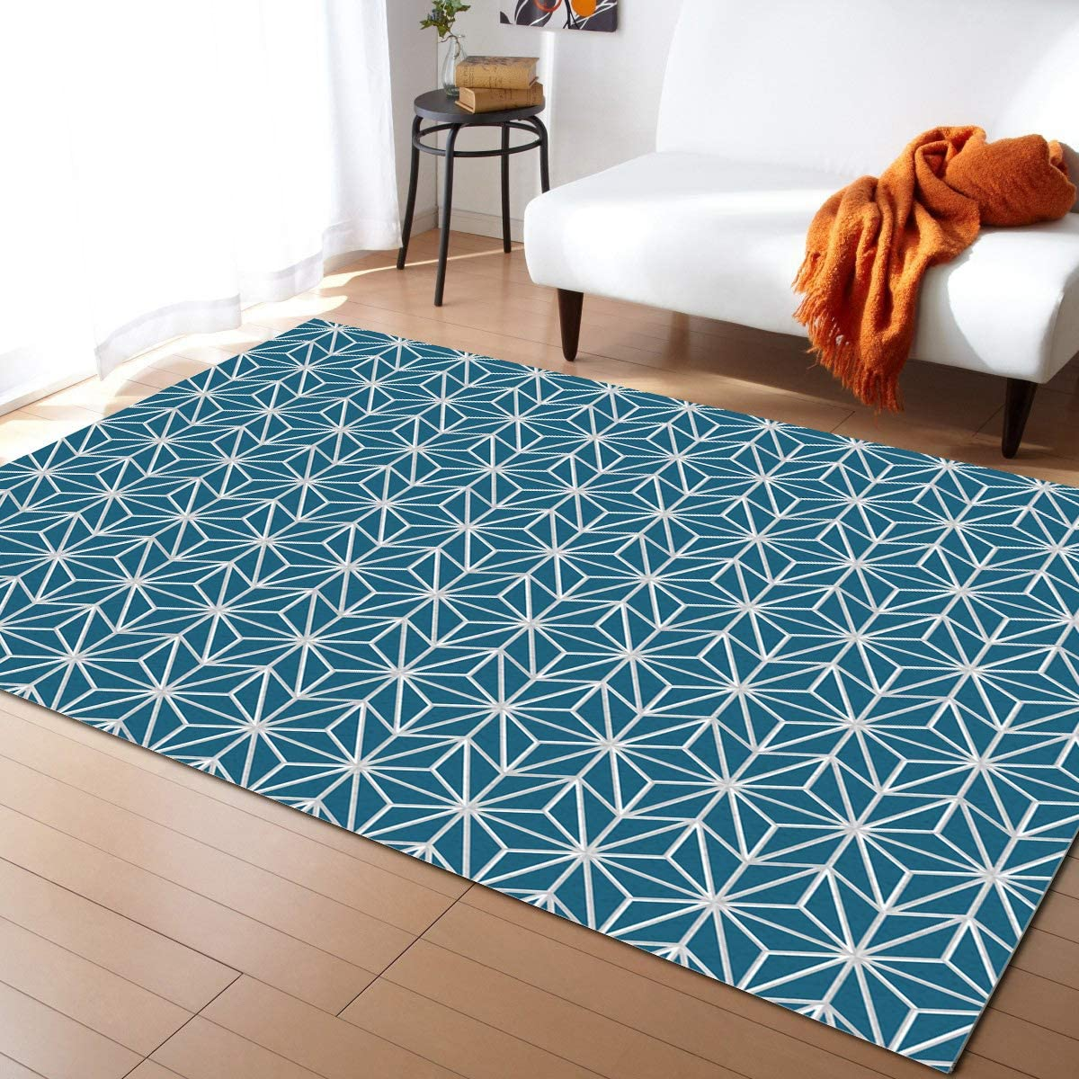 SALENEW very popular! Advancey Recommended Indoor High-Low Area Rug Green Geometric 3D 5'x8'Nordic