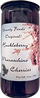 Maraschino Cocktail Cherries In Huckleberry - Juice 10 oz Jar - 100% All Natural- Delicious - Great To Eat For Drinks - Ice Cream Toppings - Soda - Snacks From Montana Bounty Foods (10ozCC)