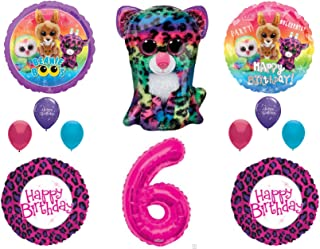 Beanie Boos 6th Birthday Party Balloons Decoration TY Cheetah Animals