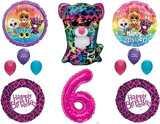 Beanie Boos 6th Birthday Party Balloons Decoration TY Cheetah Animals