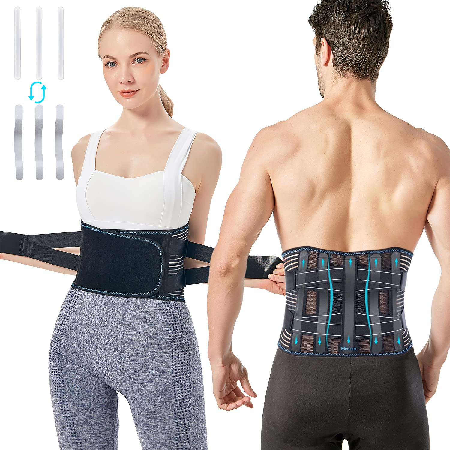 Mercase Back Support Belt for Men Free Shipping New Lower Brace fo and New color Women