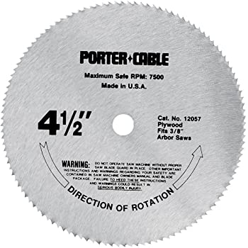 Porter Cable 12057 4 1 2 Inch 120 Tooth Tcg Plywood Cutting Saw Blade With 3 8 Inch Arbor Limited Edition Amazon Com