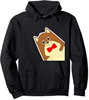 Cool Mens Peeking Cat Hoodie