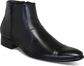 BIK BOK Men's Formal Zip Chelsea Moccasin Boots Shoes for Office, Meetings & Party Wear