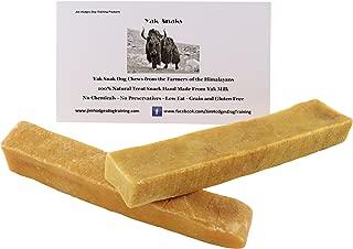 Yak Snak Dog Chews - All Natural Hard Cheese Himalayan Dog Treats - Long Lasting Dog Chews, Made from Yak Milk, Small, Medium. Large & Extra Large Sizes