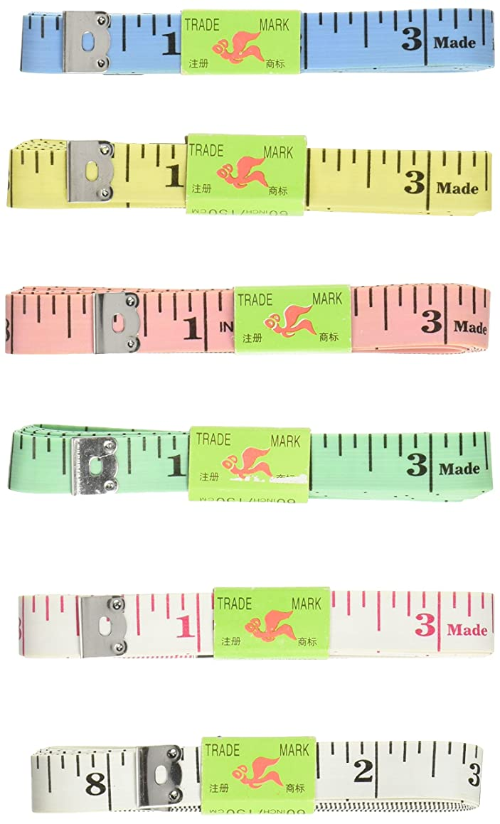 Uxcell Double Sided Fiberglass Tape Measure Sewing Rulers (6 Piece), 1.5m/60