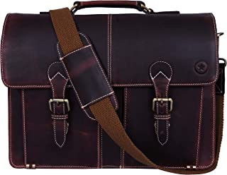denali leather messenger bag